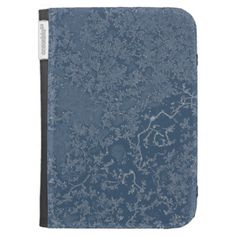 Dark Steel Blue Icy Crystals Case For The Kindle