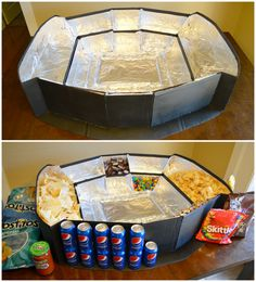 How to build your own snack stadium - step by step tutorial! How to build your own snack stadium - step by step tutorial! Super Bowl Party, Super Bowl Menu, Game Day Snacks, Game Day Food, Birthday Party Snacks, Superbowl Party Food Ideas, Tailgating Ideas, Party Ideas, Super Bowl Shuffle