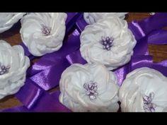 Свадебное украшение для подружек невесты. Канзаши. - YouTube