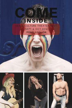 COME INSIDE SEX & CULTURE THEATER FEST. SEPT & OCT 2016 PORTLAND, OR http://www.eleanorobrien.com/shows/come-inside/ #ComeInside2016