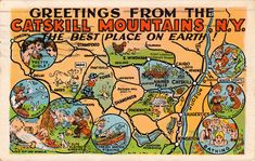 Vintage postcard. Who can resist the promise of pretty girls and elves playing Ninepins?