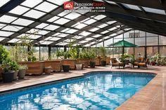 Custom Green House & Pool | Timber Frame Home | PrecisionCraft Timber Homes by PrecisionCraft Log Homes & Timber Frame, via Flickr