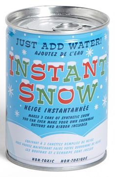 Just add water to make 3 cans of reusable snow!  I know...for those of us that don't get snow.  :)