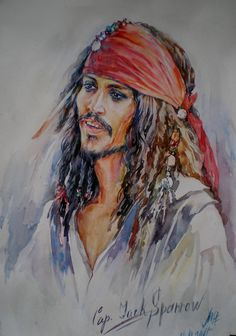 Captain Jack Sparrow by ~MarinaCardoso on deviantART