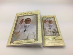His Holiness Saint Pope Francis I Jorge Mario Bergoglio gifts and souvenirs page. We have a selection of Pope Francis Rosaries, prayer cards, medals and statues. Prayer Cards, John Paul, Pope Francis, Booklet, Souvenir