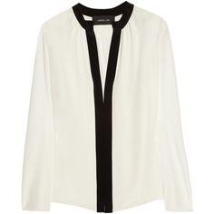 Derek Lam Silk blouse ($770) ❤ liked on Polyvore