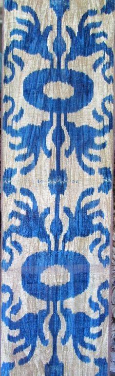 Yuner / Silk Velvet, uzbek ikat fabric