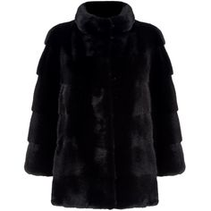 Harrods of London Mink Fur Coat (€4.295) ❤ liked on Polyvore featuring outerwear, coats, fur-lined coats, mink fur coat, mink coat, wrap coats and texture coat