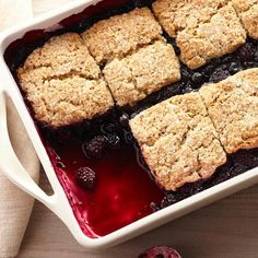 Black-and-Blue Cobbler with Brown Sugar-Pecan Biscuits from the Better Homes and Gardens Must-Have Recipes App