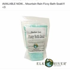 Woohoo!!! Mountain Rain Fizzy Bath Soak is now available!  These are awesome!   859-806-5707 soakgoddess.com