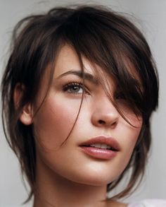 short and messy hairstyle