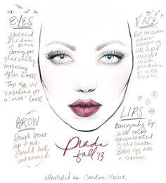 Fall/Winter PRADA 2013 makeup trend