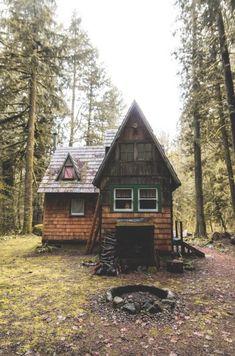Simple rustic cabin life