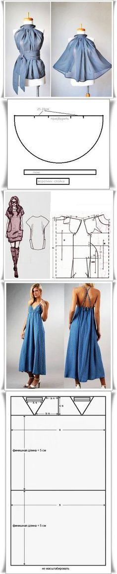 Dress pattern sewing summer 42 New Ideas Dress Sewing Patterns, Clothing Patterns, Pattern Sewing, Sewing Blouses, How To Make Clothes, Diy Dress, Diy Clothing, Dressmaking, Pattern Fashion