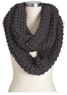 Patterns for Knit Infinity Scarves | Chunky Knit Infinity Scarf | Crochet Patterns