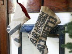 Do-It-Yourself Christmas Stockings : Decorating : Home & Garden Television