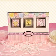 All the Girls by Hunkydory Crafts. Card made using 'Party Guests' topper set