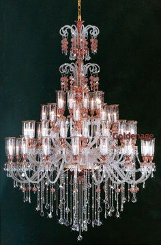 bohemian crystal chandelier..MAGNIFICENT