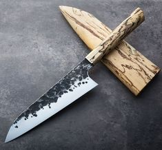 Tamarind Forged Chef Knife 200mm handmade by James Oatley of Oatley Knives.