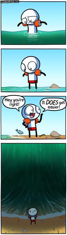 25 Dark and Hilarious Comics by Loading Artist - Joyenergizer Really Funny Memes, Stupid Funny Memes, Funny Relatable Memes, Hilarious, Old Memes, Memes Br, Cartoon Memes, Funny Cartoons, Cute Comics