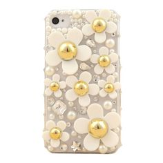 Beautiful Daisies & Crystals - Imagine that beautiful field full of Daisies dancing to the music of the wind. That would be truly lovely to look at. Now it's time for you to incorporate that lovely chic look into your iPhone. Here we have a detailed decoration that mimics the field of beautiful Daisies. This patch of  Daisies grow in a field of crystals. This iPhone case does only offer beauty but also protection. It is made up of high durable material that will safeguard your phone from scra...