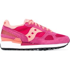 Saucony Shadow Original sneakers (€110) ❤ liked on Polyvore featuring shoes, sneakers, pink, saucony footwear, saucony, leather shoes, leather sneakers and leather footwear