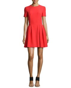 Matte Charmeuse Fit-And-Flare Dress