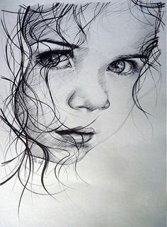 Secrets Of Drawing Realistic Pencil Portraits - Guilty - print by illya - SAShE.sk - Handmade Kresby Secrets Of Drawing Realistic Pencil Portraits - Discover The Secrets Of Drawing Realistic Pencil Portraits Pencil Art Drawings, Realistic Drawings, Art Drawings Sketches, Drawing Faces, Baby Drawing, Girl Pencil Drawing, Pencil Portrait Drawing, Hipster Drawings, Horse Drawings