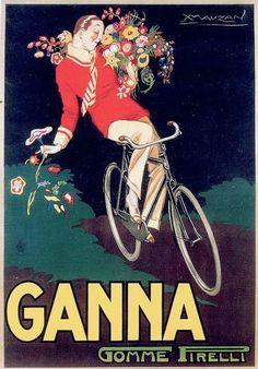 ✔️ Achille Luciano Mauzan, Ganna - Gomme Pirelli, 1923