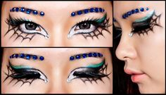 Spider web's make up for Halloween 2012