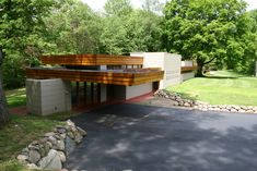 Eric and Pat Pratt Residence. Galesburg, Michigan. 1951. Usonian Style. Frank Lloyd Wright. In subdivision called 'The Acres'