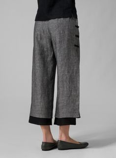 MISSY Clothing - Linen Double-Layer Pants (Tall)