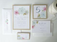 SAMPLE - Succulent Wedding Invitation