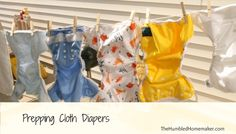 Prepping Cloth Diapers for use.  **Wash Natural-fiber diapers and Synthetic-fiber diapers separately**
