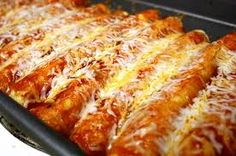 Pork Verde Enchiladas made easy with slow cooker pulled pork. Finish the enchiladas off in the oven for a perfect dinner. Mexican Dishes, Mexican Food Recipes, Dinner Recipes, Mexican Cheese, Spanish Recipes, Restaurant Recipes, Dinner Ideas, Breakfast Recipes, Dessert Recipes