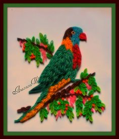 Paper quilled Rosella