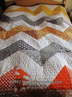 Big Zig Zag Quilt - Finished Front - scroll down to comments for links to tutorial