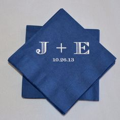 Personalized Initial Wedding Beverage Napkins  by GraciousBridal, $34.00