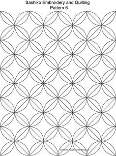 Sashiko Pattern Embroidery and Quilting