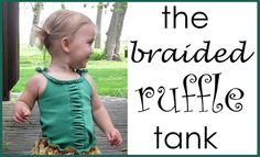 Braided & Ruffled Tank Tutorial - Peek-a-Boo Pages - Sew Something Special