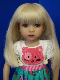 PRETTY PALE BLONDE WIG FOR DIANNA EFFNER LITTLE DARLING DOLLS