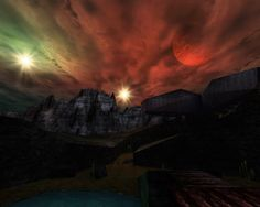 Unreal Screenshot - Unreal is 14 years old! Unreal Tournament, Binary Star, 14 Year Old, Epic Games, Northern Lights, Community, Sunset, Wallpaper, Travel