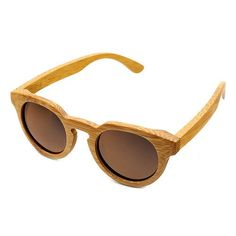 Handmade Polarized Lens Bamboo Sunglasses Beige Colour For Women - Cove Cotton