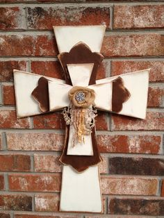 Shabby Chic Home Decor Cross by  SassySouthernCharm, $32.00