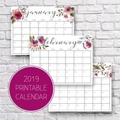 A collections of the biggest and best variety for 2019 free printable calendars! March Calendar Printable, Calendar March, Printable Calendars, Calender Print, Desktop Organization, Office Organization, Weekly Planner, Planner Ideas, Getting Organized