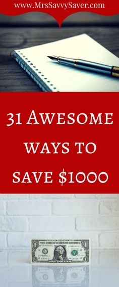 From hard work and experience I will show you how to save $1000 in 31 days at www.MrsSavvySaver.com