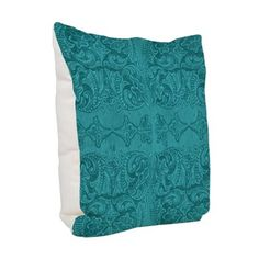 Turquoise Tooled Leather Patte Burlap Throw Pillow on CafePress.com