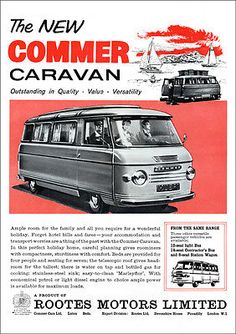 #Commer camper van caravan mini bus #rootes retro a3 poster #print from 60's adve,  View more on the LINK: http://www.zeppy.io/product/gb/2/400684998767/