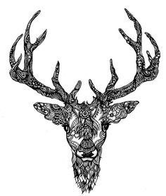 Elk mandala tattoo