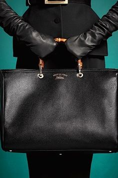 9e6435b287a Gucci 2013 Pre-Fall bamboo black leather handbag I WOULD LOVE TO HAVE THIS  BAG